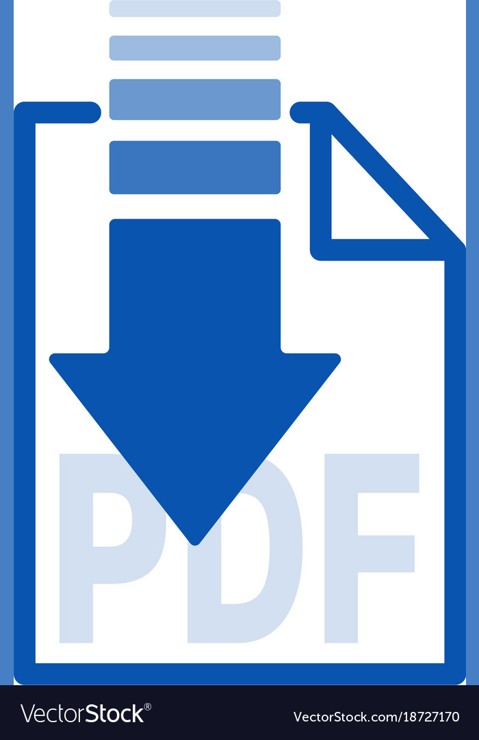 Isolated blue arrow icon button with white paper