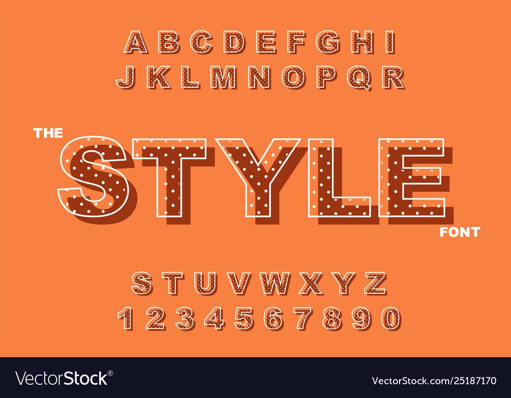 Modern bold font and alphabet vintage