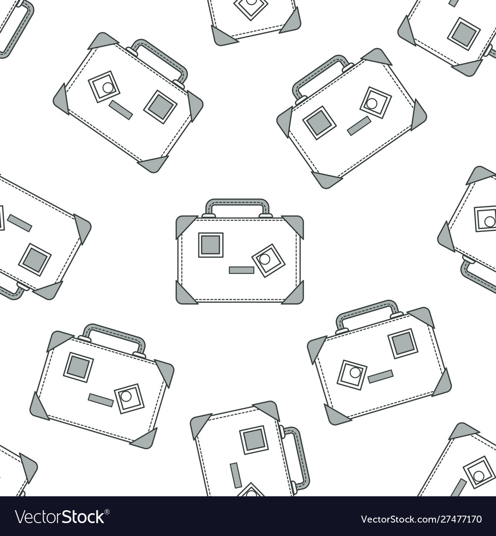 Suitcase or travel bags seamless pattern baggage