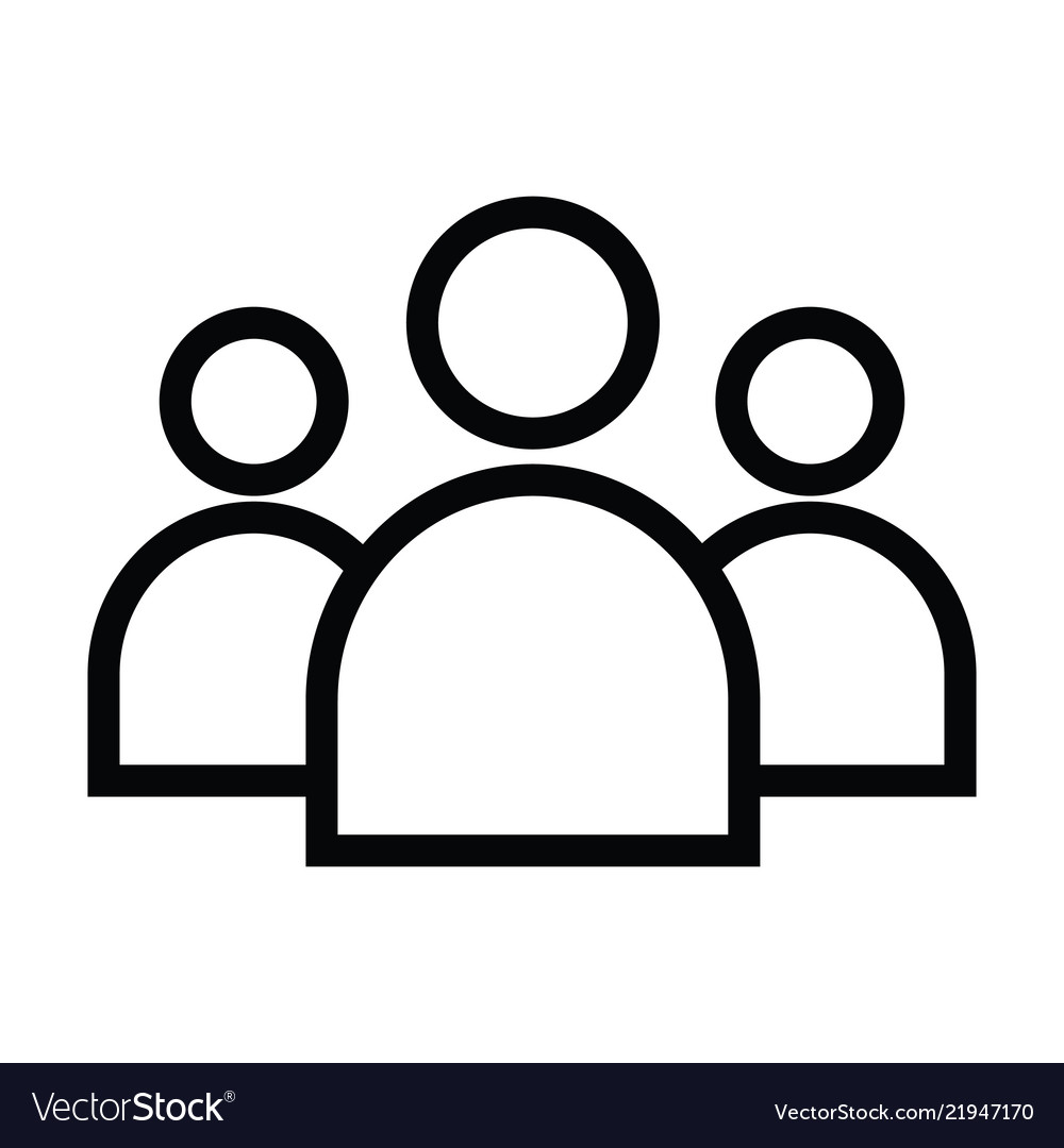 Team person icon with outline style