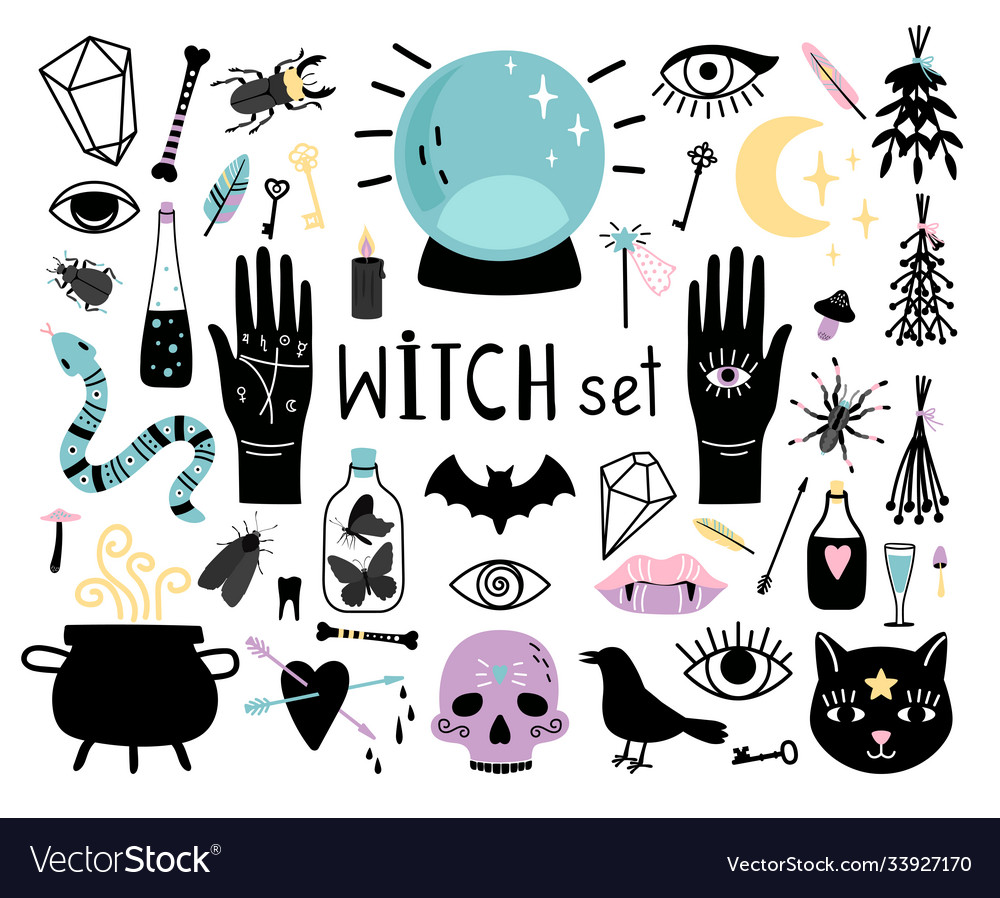 Witch magic elements