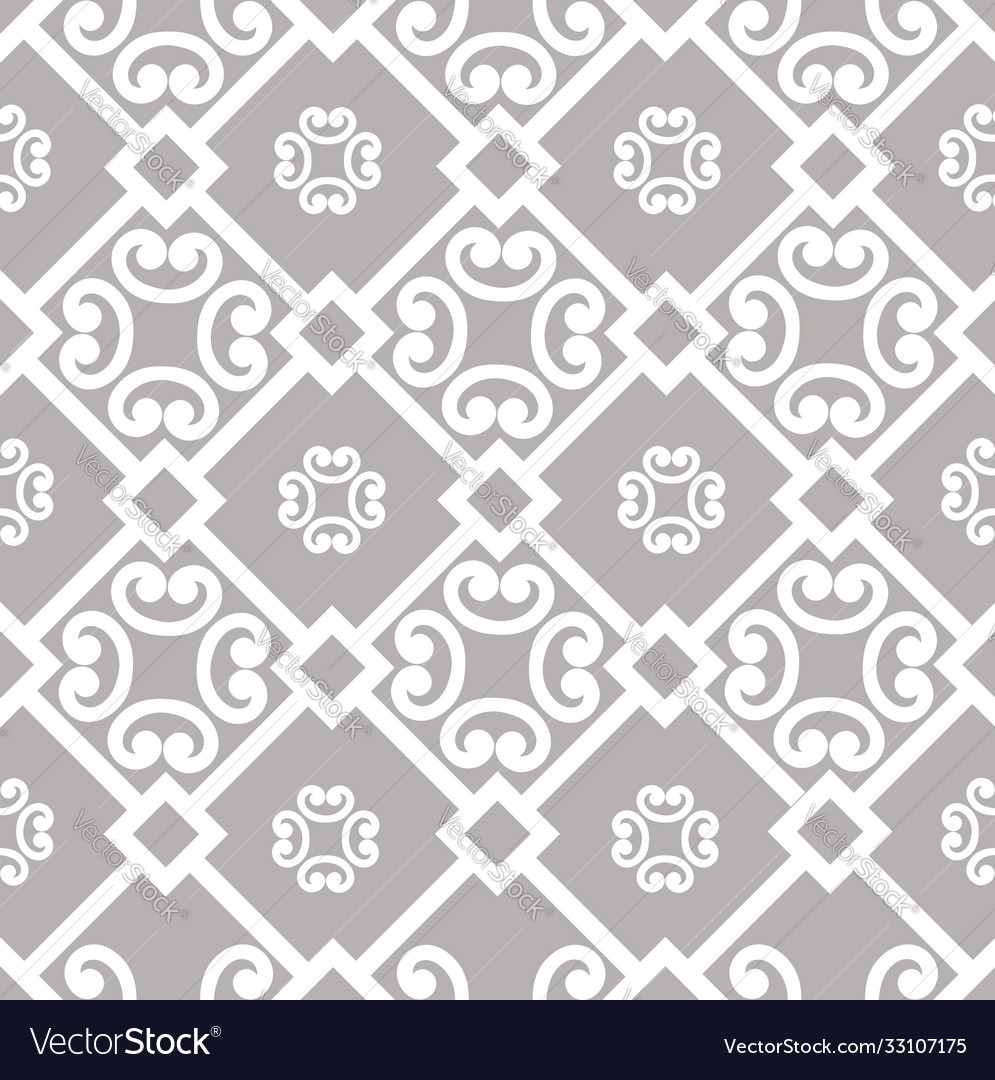 Abstract floral asian ornament seamless geometric