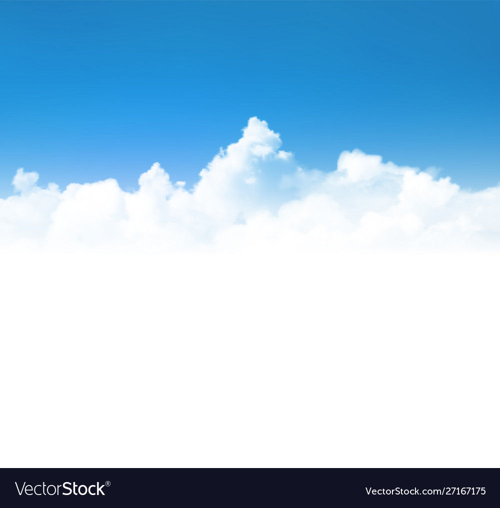 Background with realistic clouds over blue sky