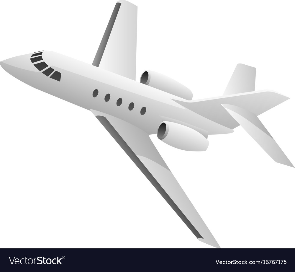Business jet airplane vector image