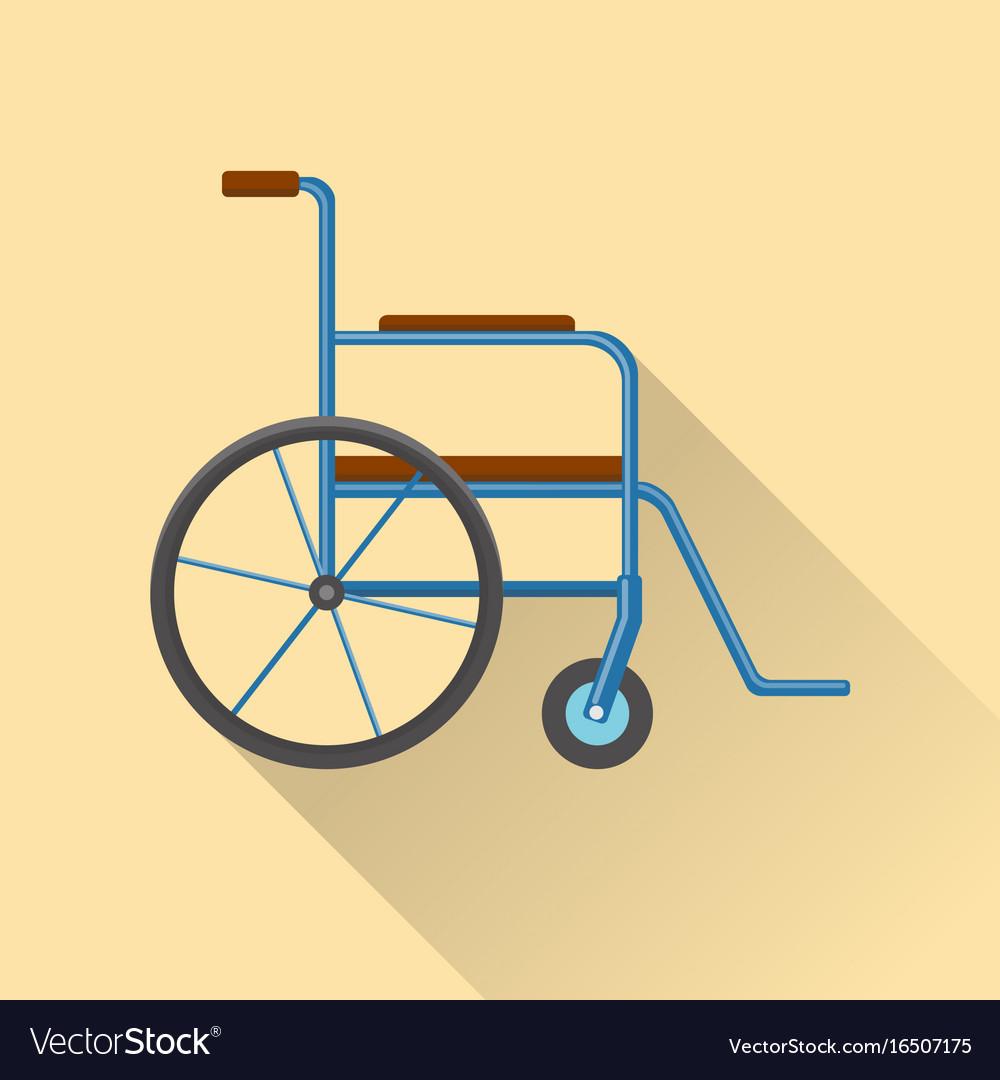 Flat style wheelchair icon