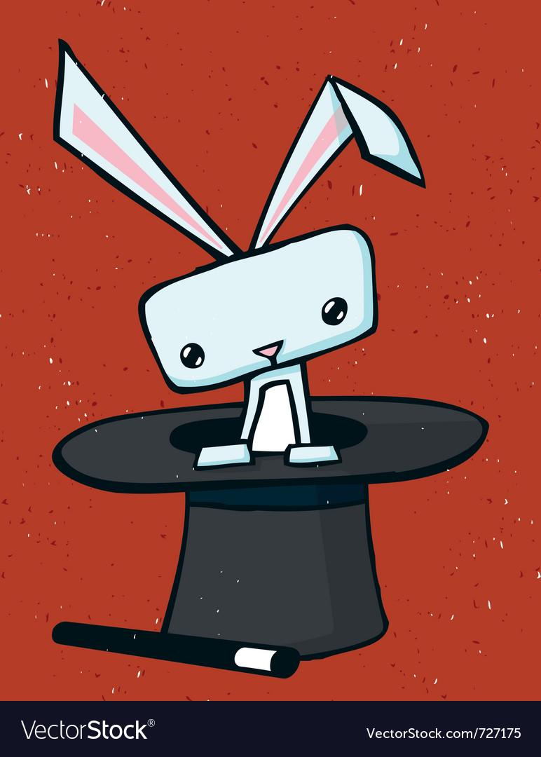 Magic rabbit drawing vector image