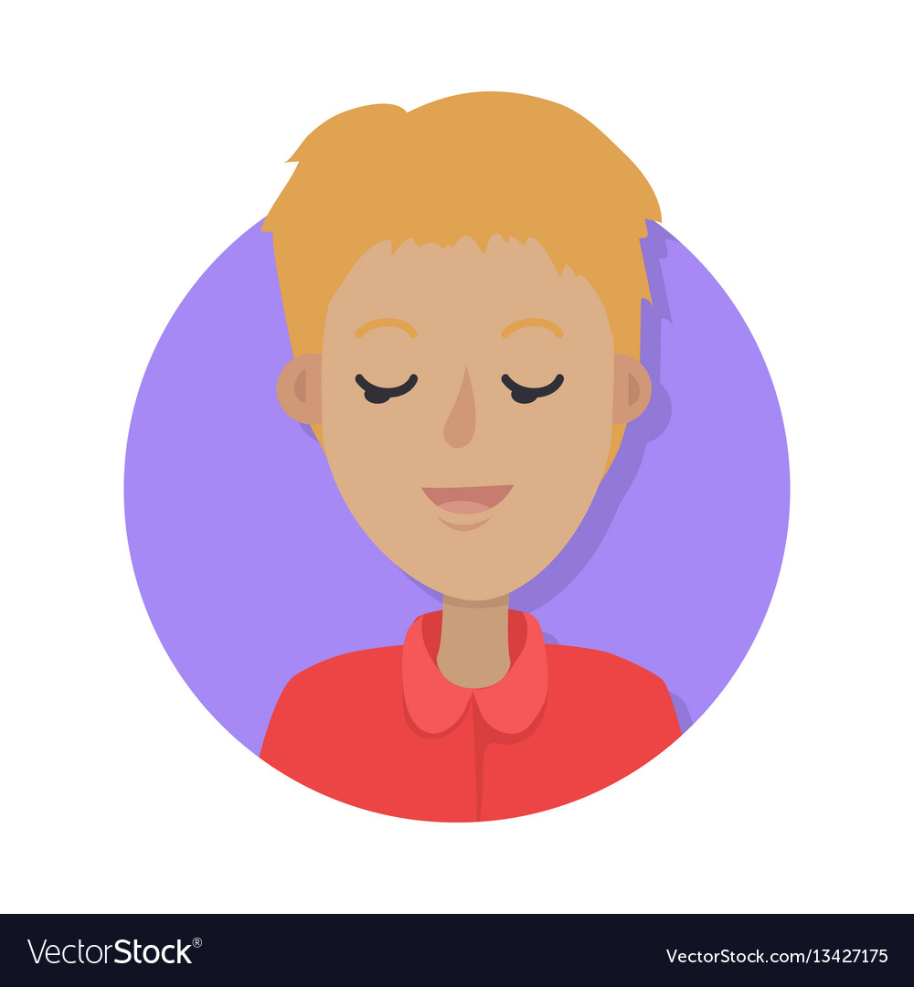 Man face emotive icon in flat style