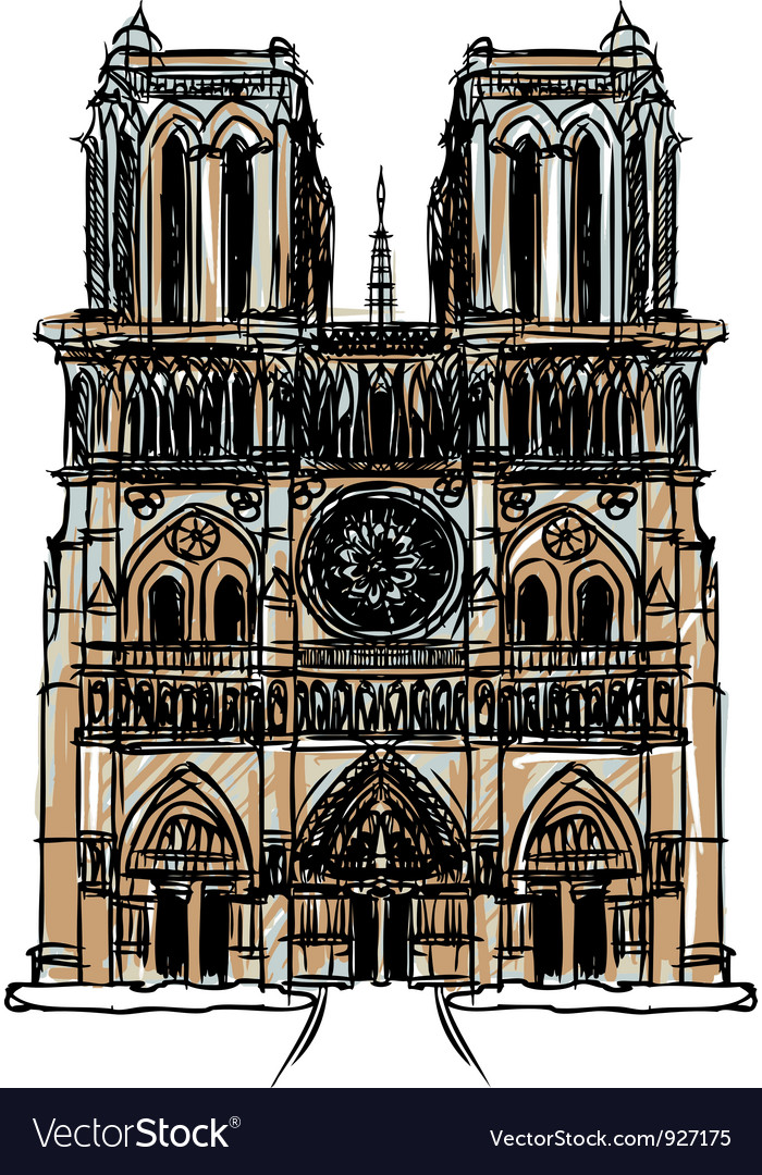 Notre Dame Cathedral Paris vector image