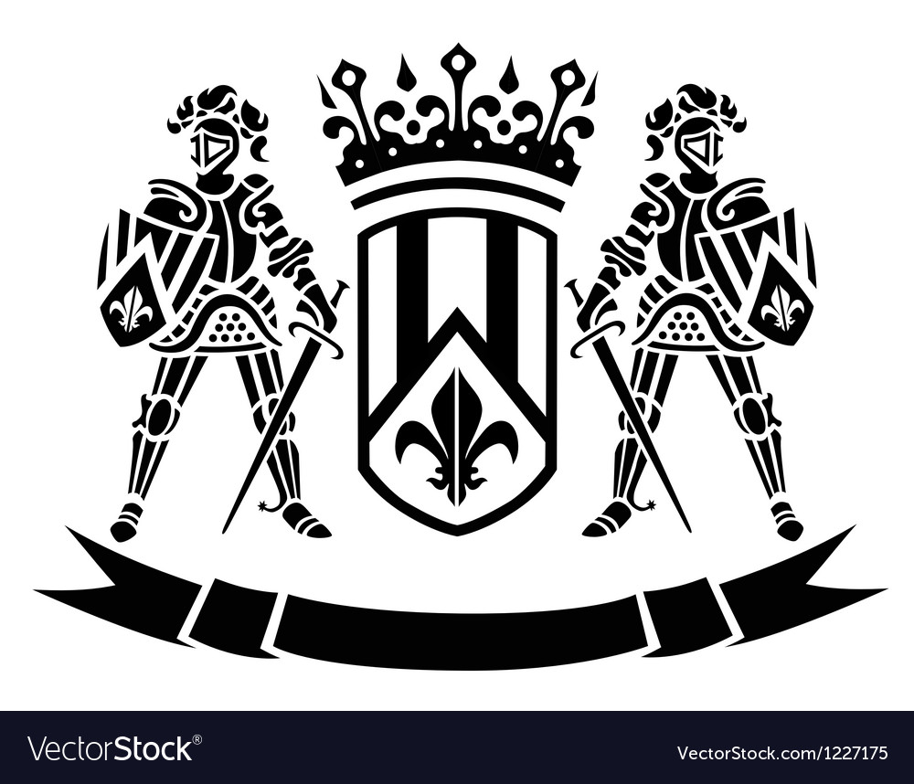 Oat of arms with knights