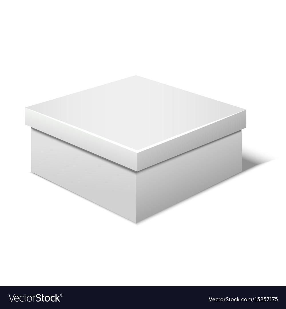 Realistic template blank white box