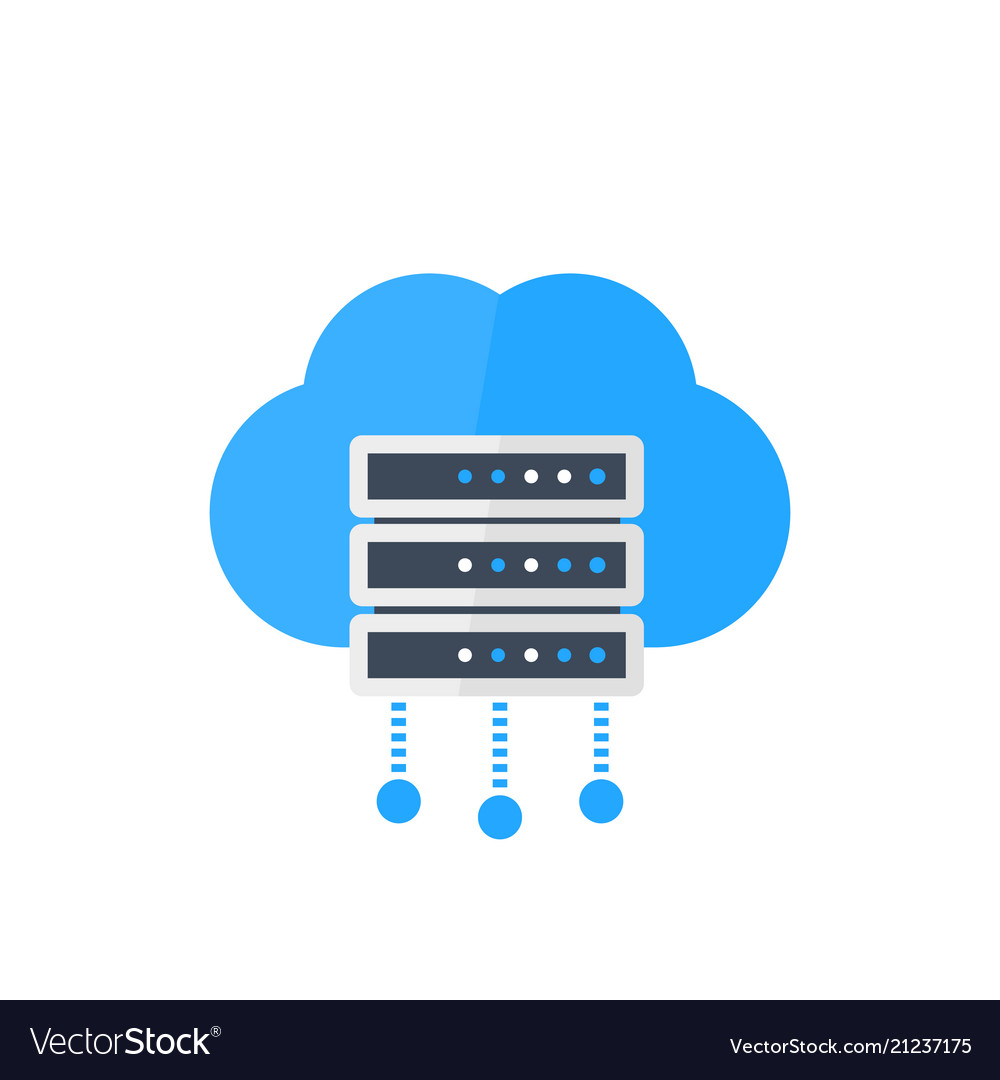 Server hosting services Royalty Free Vector Image