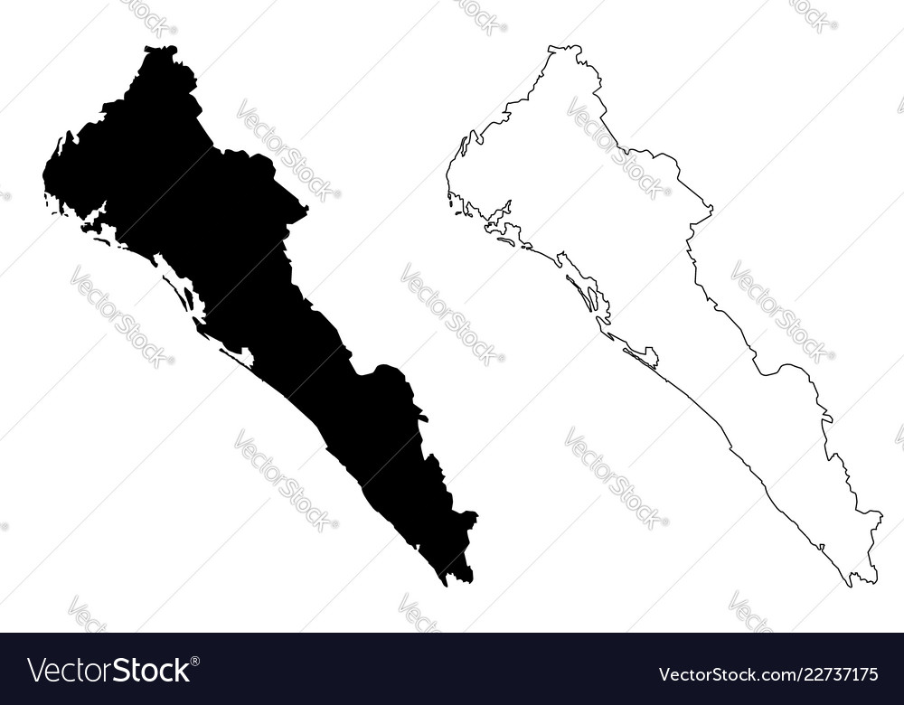 Sinaloa State Map.Sinaloa Map Royalty Free Vector Image Vectorstock
