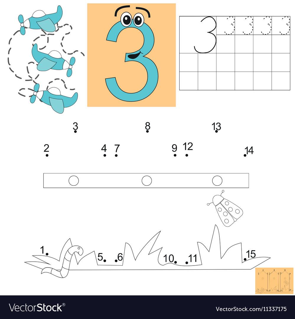 Task for children in mathematics Figure three Vector Image