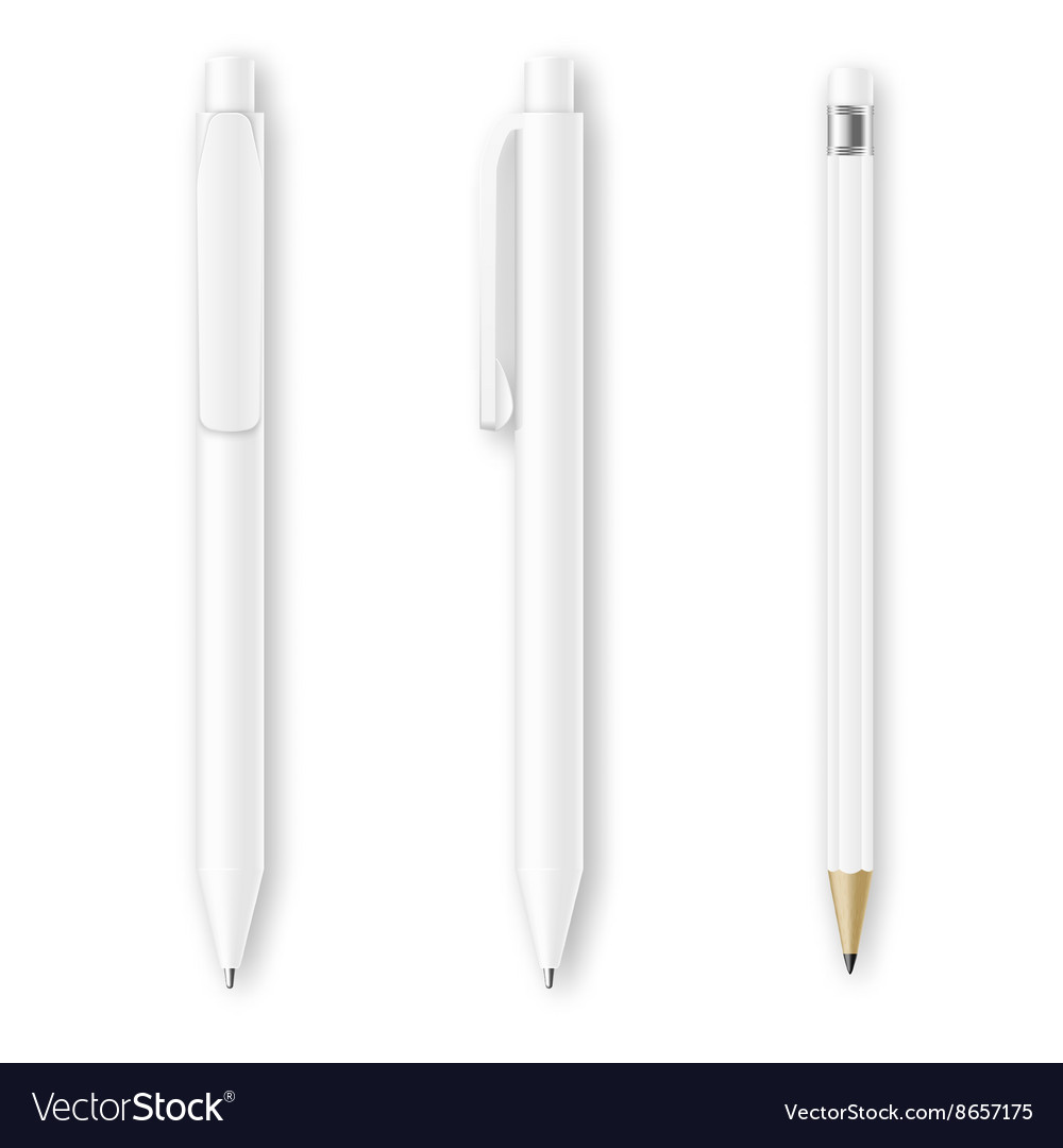 White pen and pencil mockups Corporate