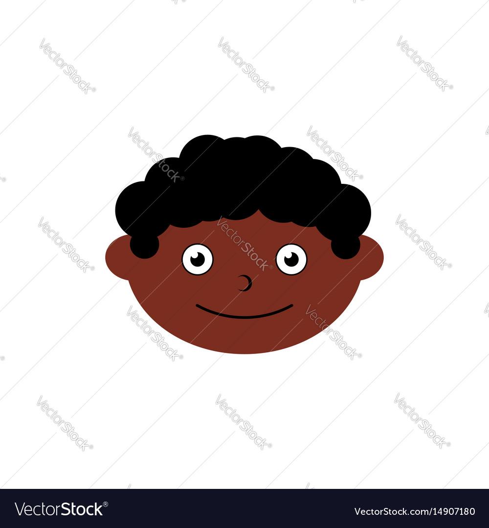 Children head icon element vector image