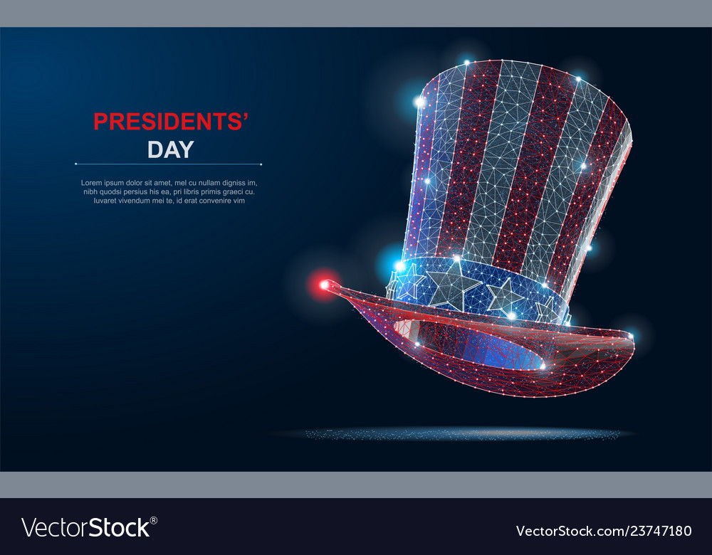 Happy president s day design background with uncle