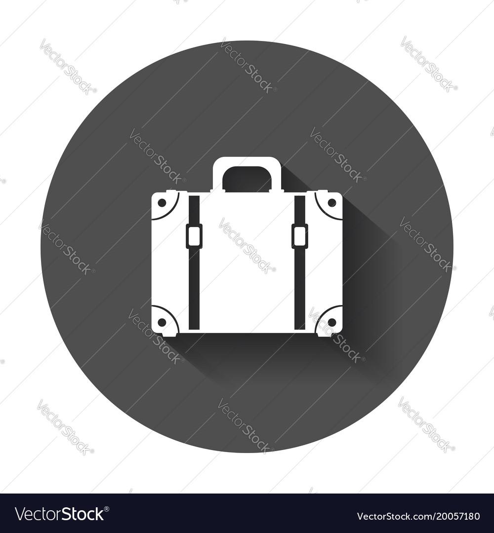 Suitcase flat on white background case for
