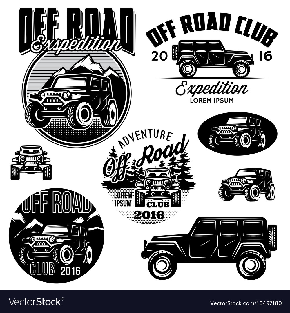 Templates for SUVs off-road sport club