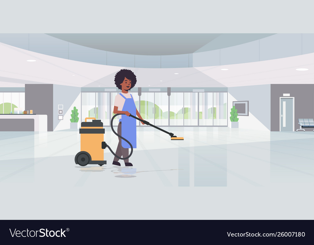 vacuum cleaner african Vector Image
