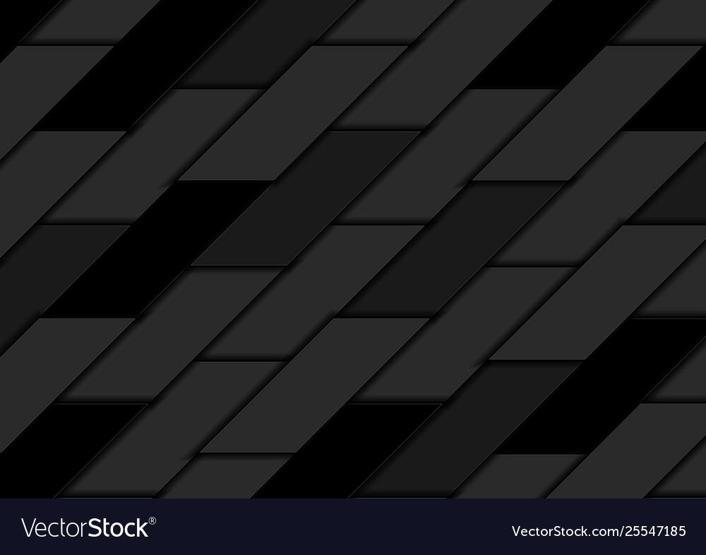 Abstract black geometric tiles hi-tech background