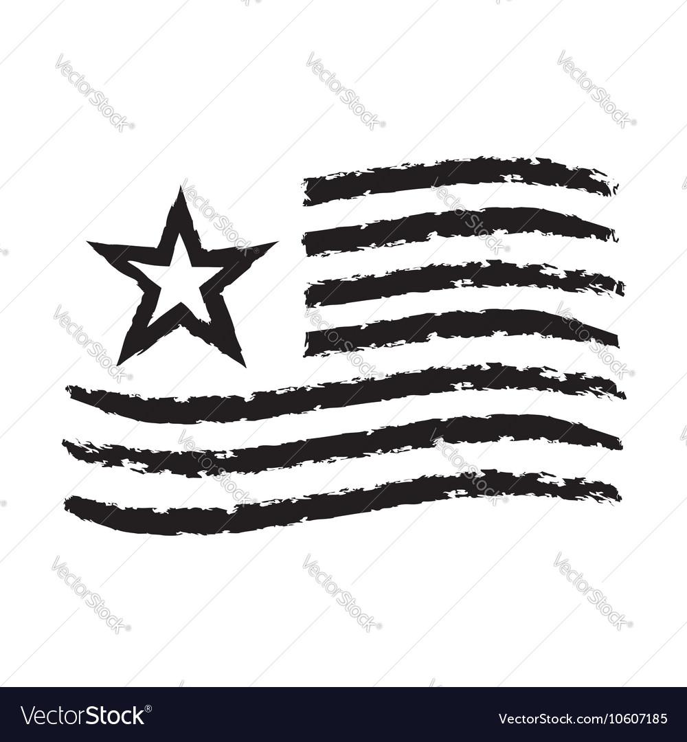 American wave flag grunge symbol Independence Day