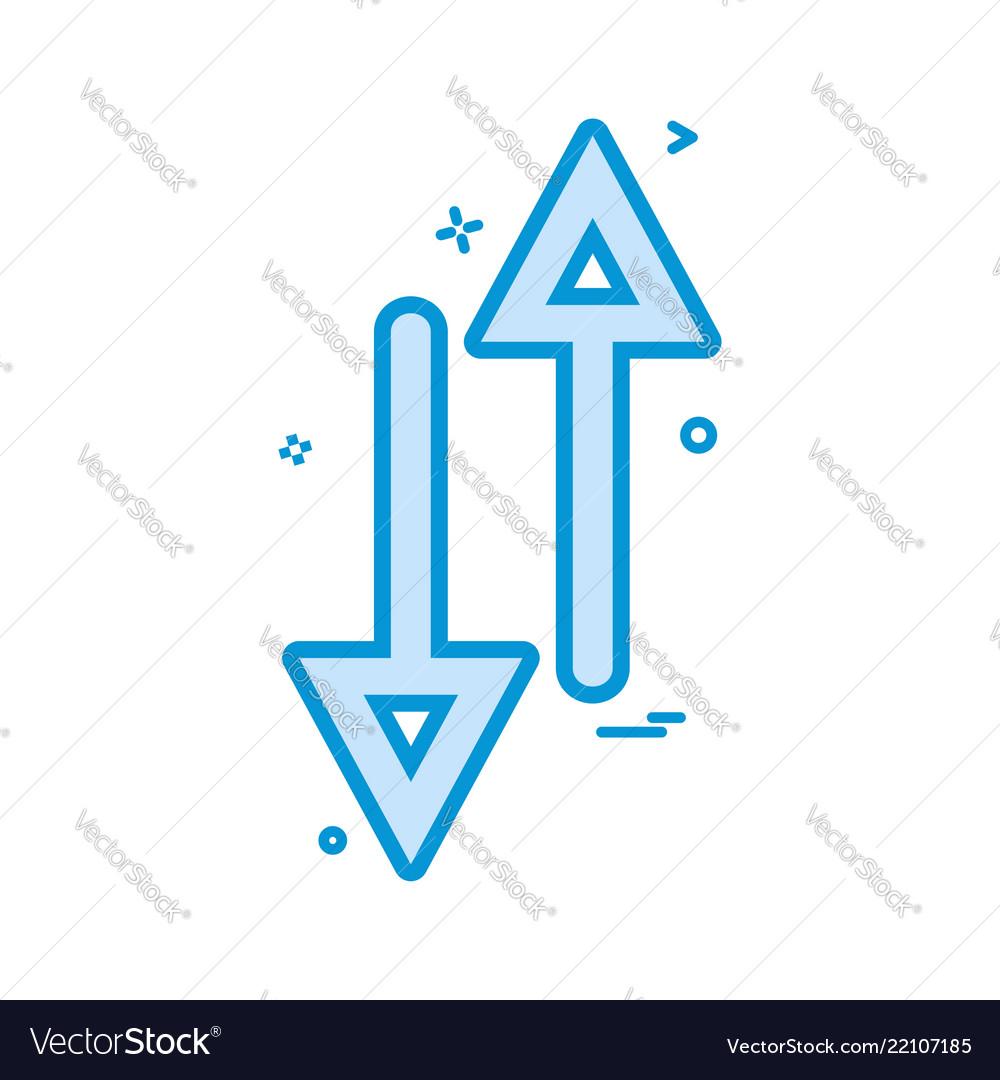 Arrow up down way icon design