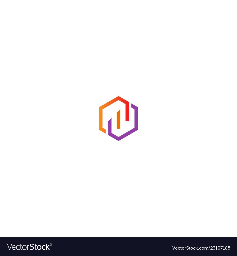 Circle polygon line company logo