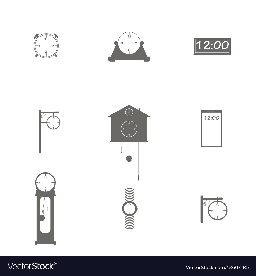 Different types of watches vector image
