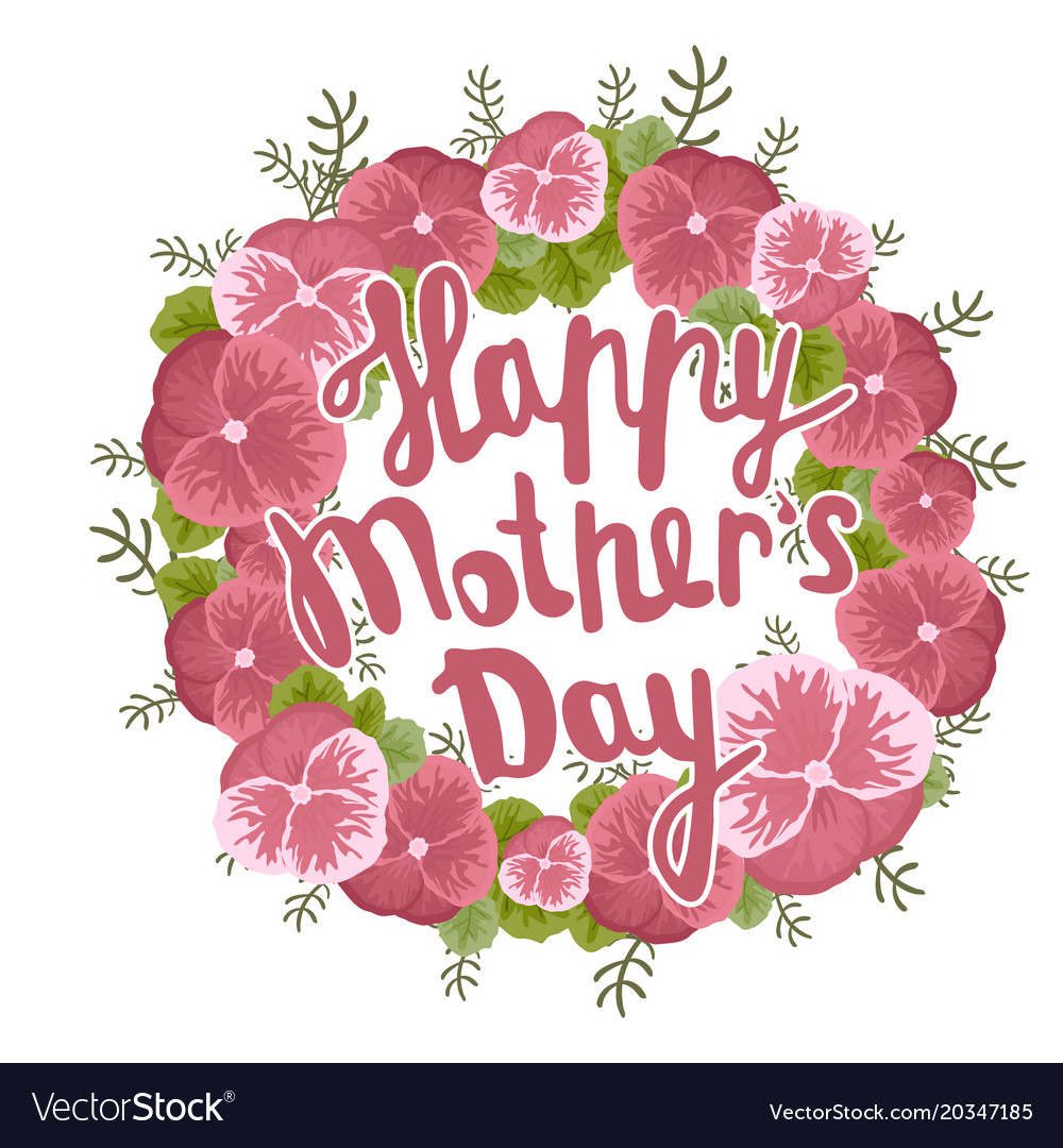 Happy Mother S Day Greeting Card Black Royalty Free Vector