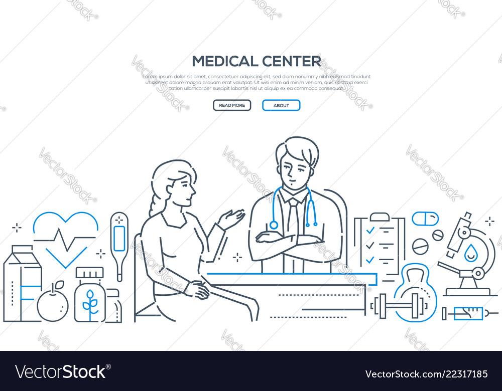 Medical center - modern line design style banner