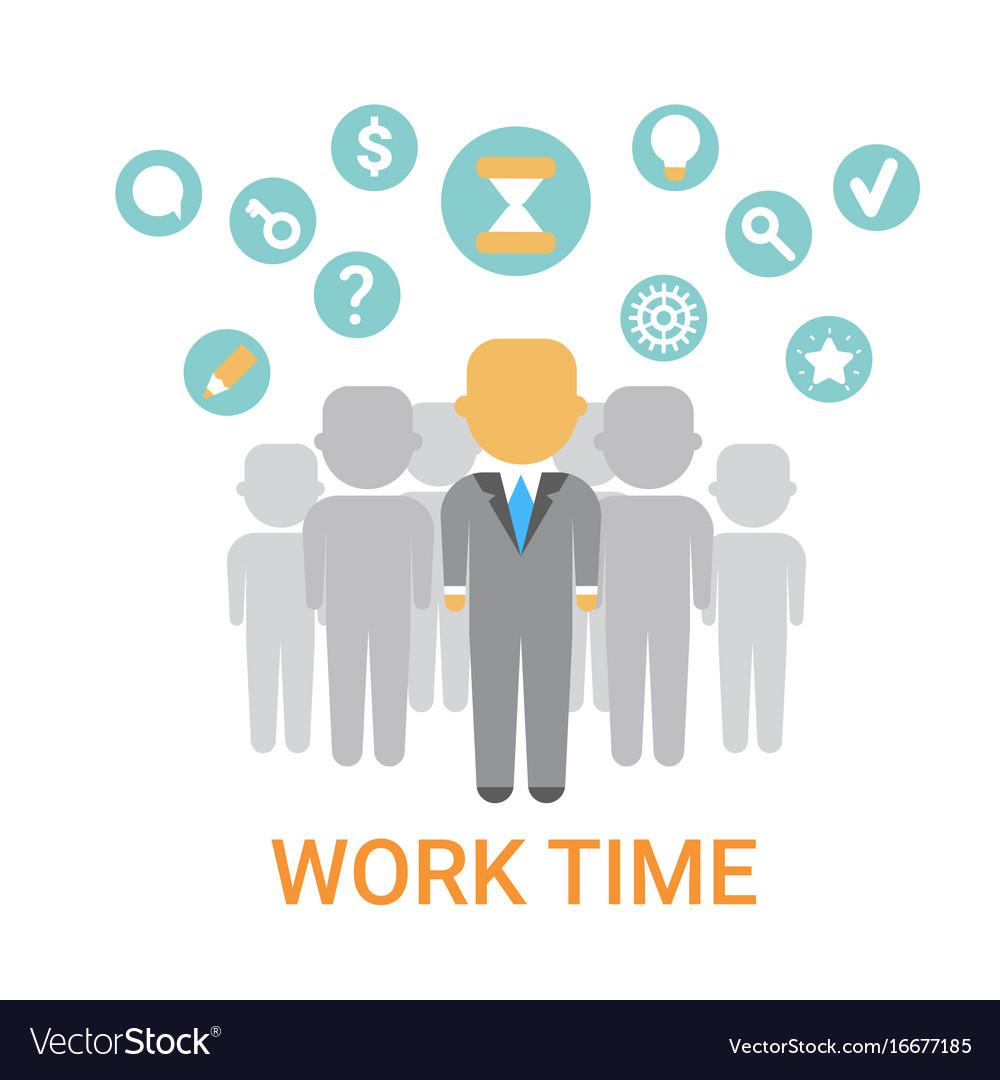 Work time icon working process organization