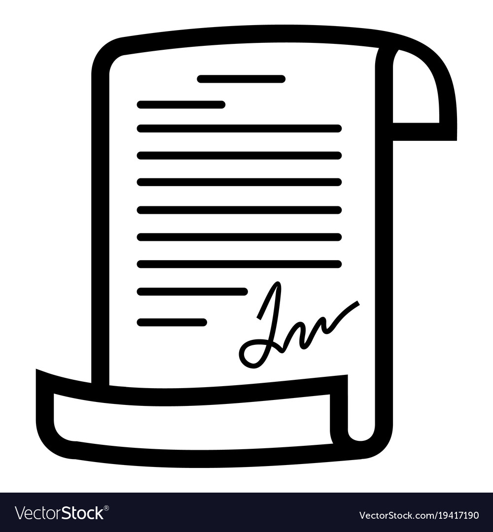 Agreement Icon Simple Style Royalty Free Vector Image