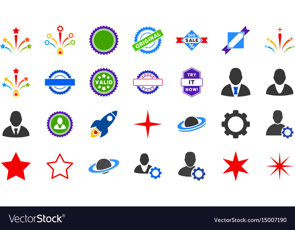 Popular flat icons vector image
