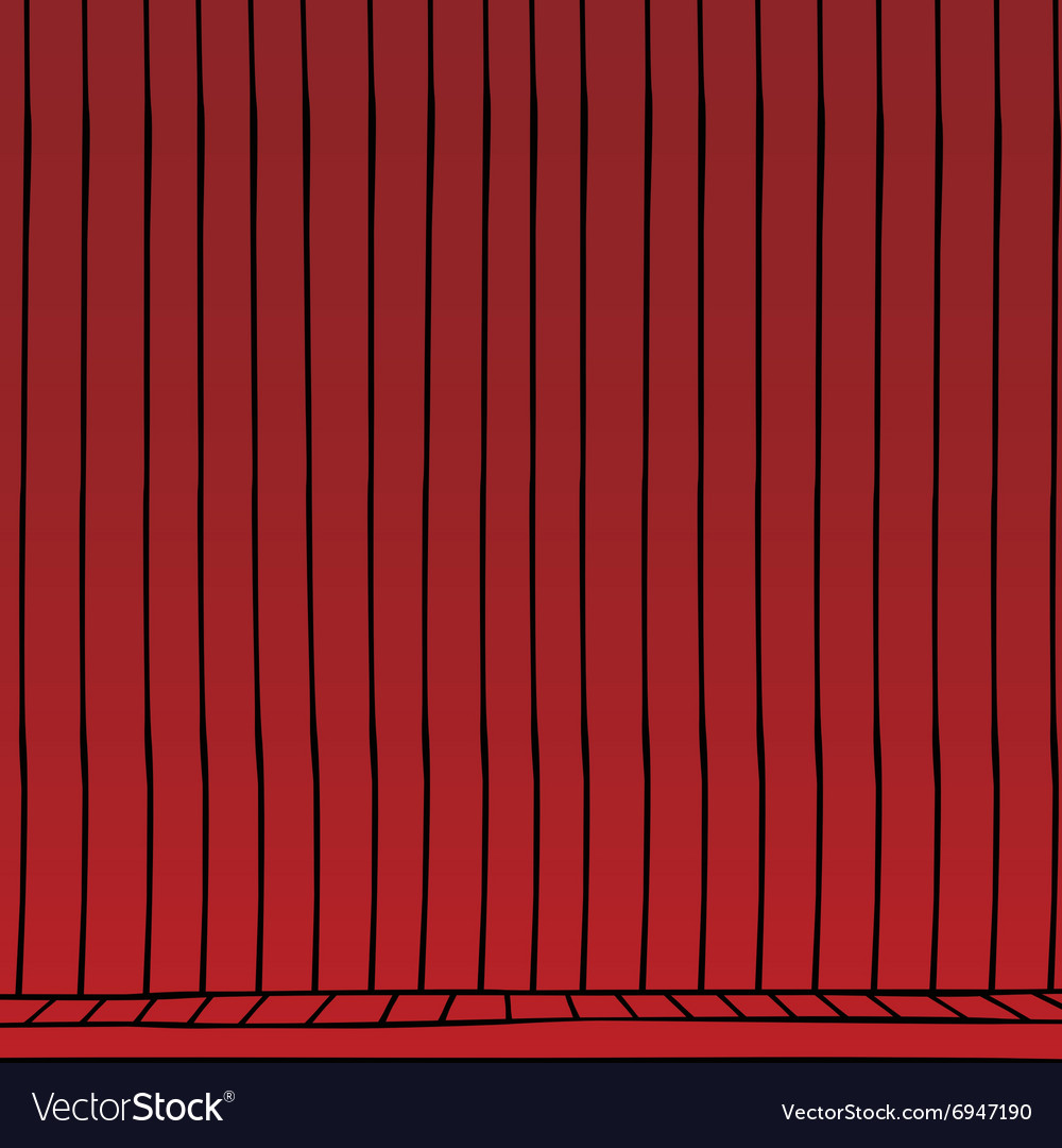 Red curtain cartoon vector image