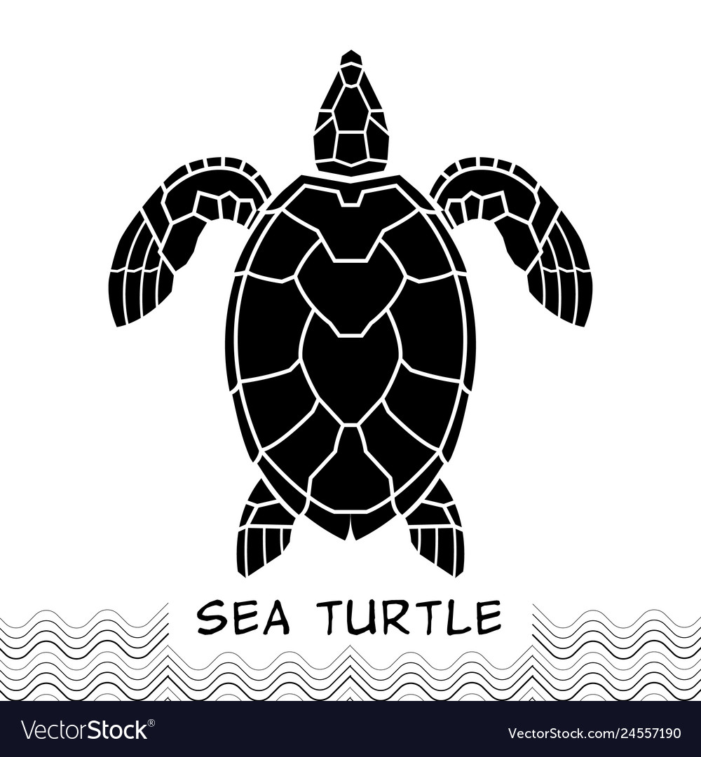 Sea turtle icon 02