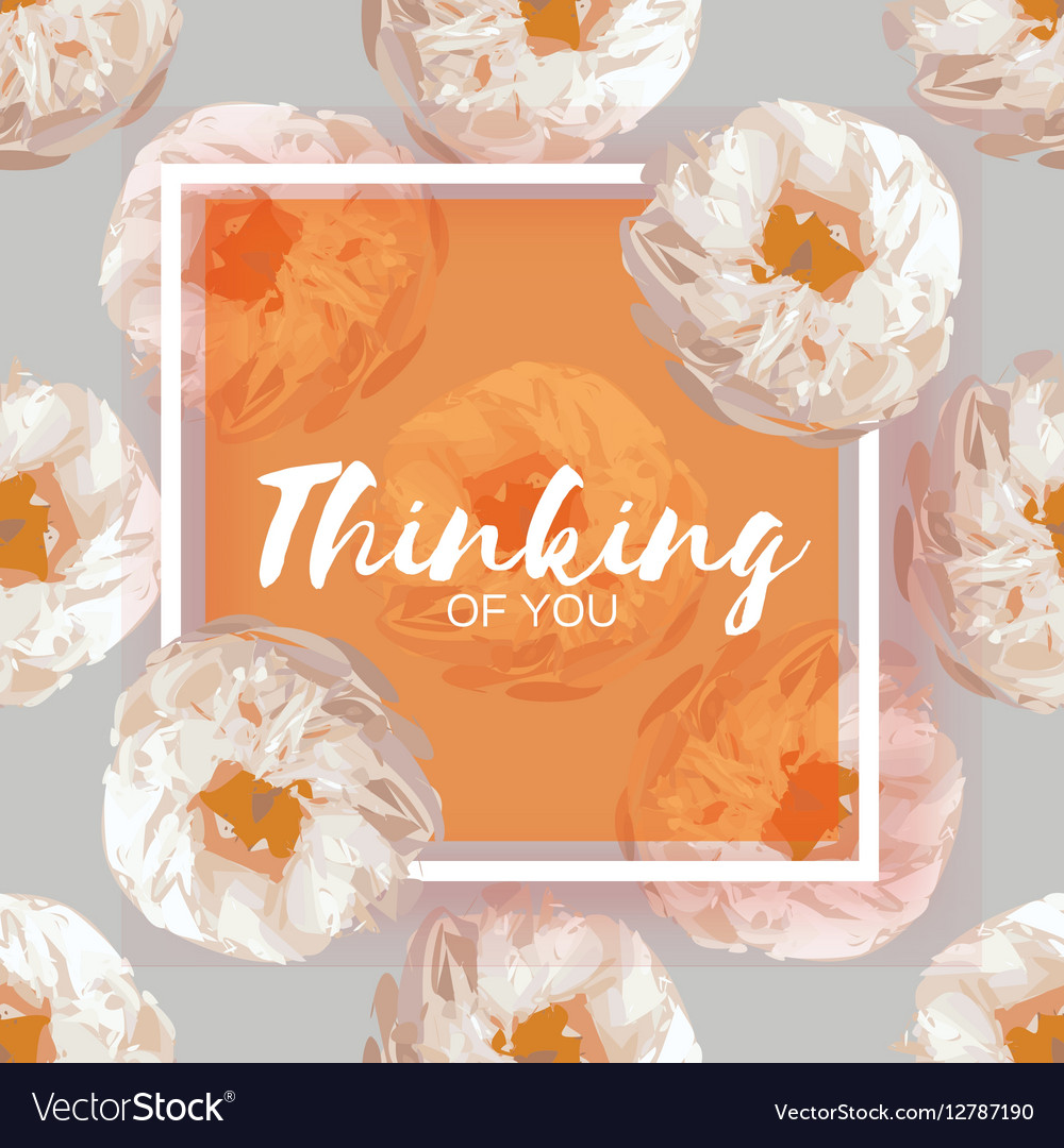 Showy Bouquet Orange Peony Flowers Garden Vector Image
