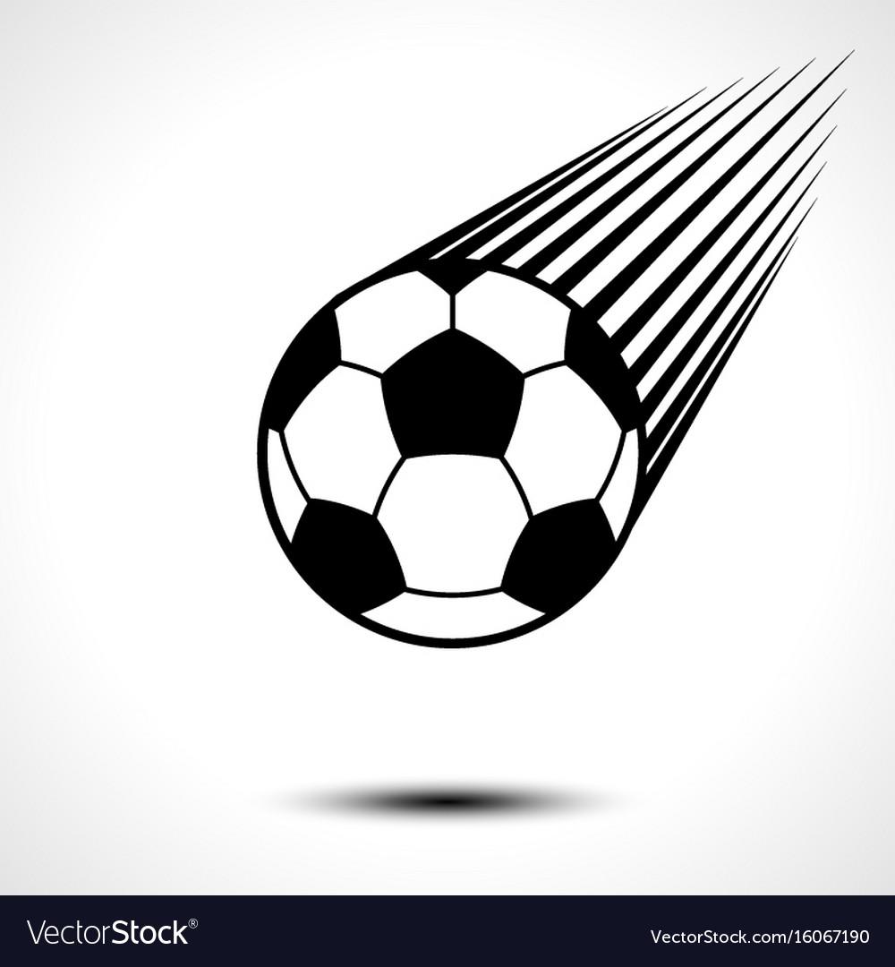 Soccer ball or football speeding through the air vector image
