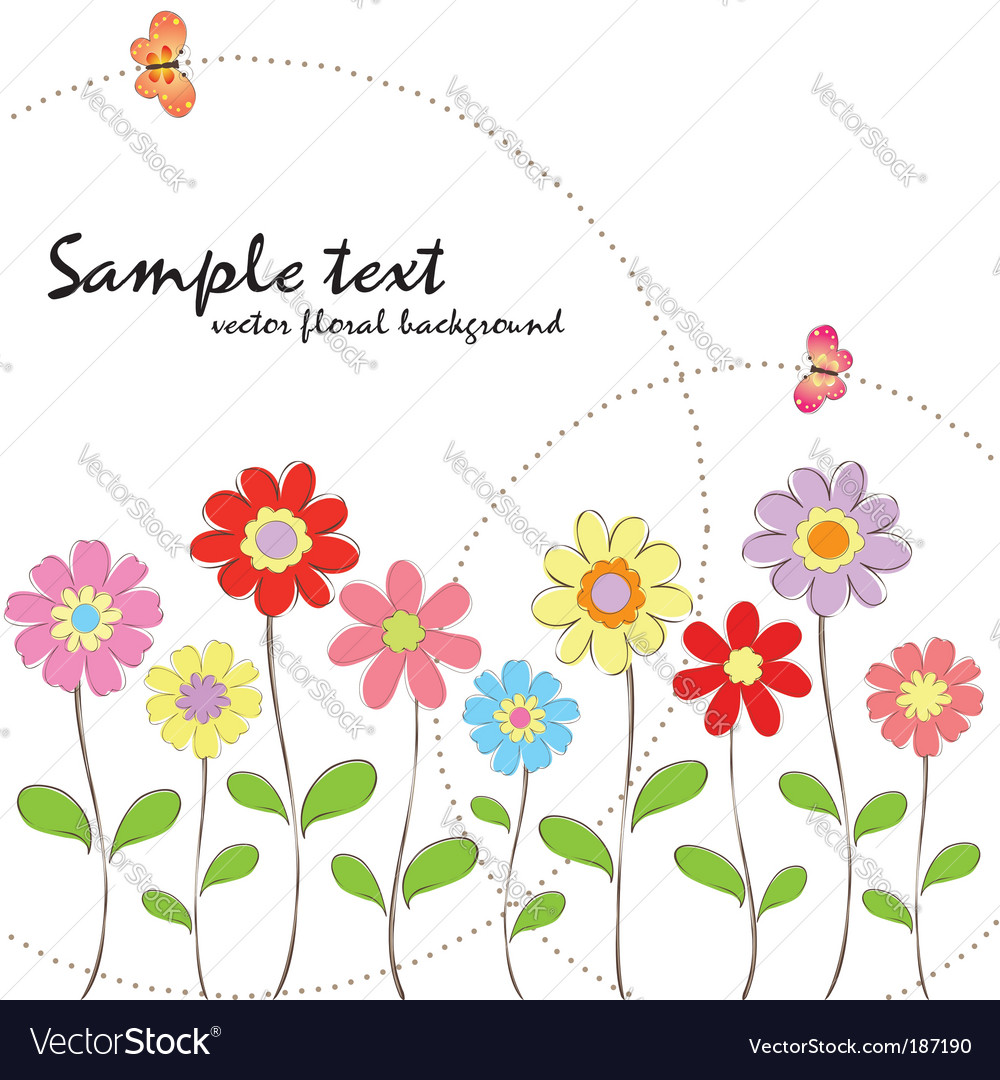 Spring Summer Floral Wallpaper Royalty Free Vector Image