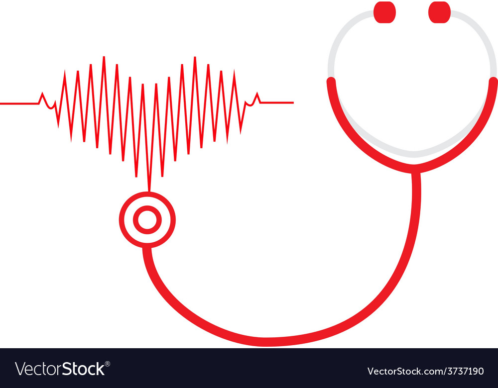 Stethoscope and a heart beats