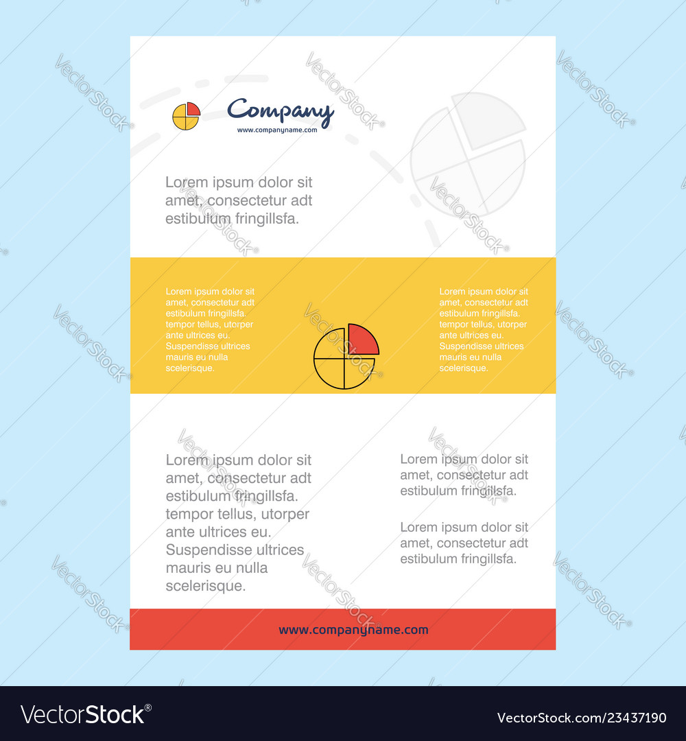 Template layout for pie chart comany profile