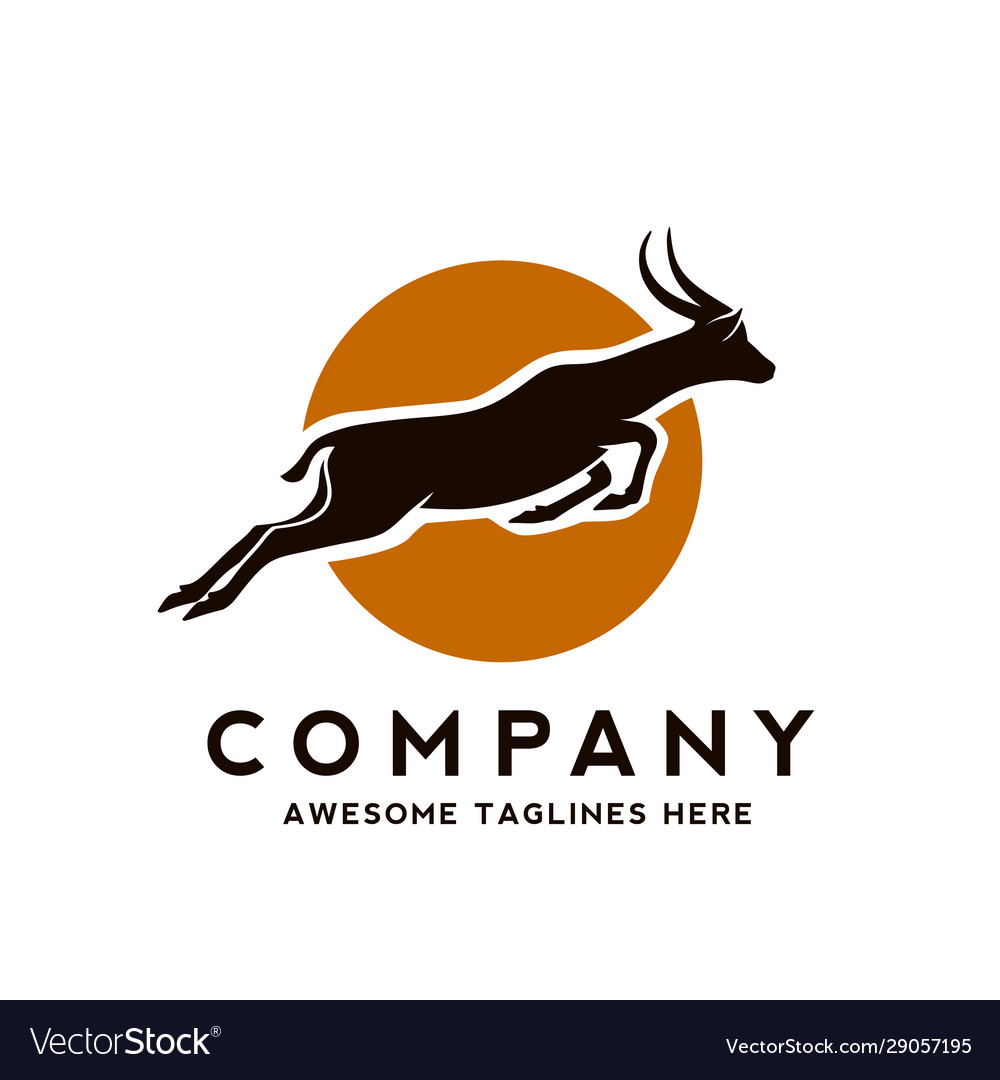 Antelope silhouette wild animals
