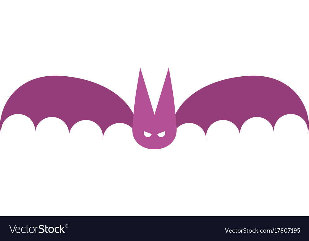 Bat icon in flat design