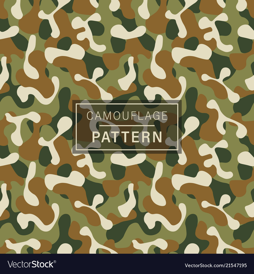 Camouflage seamless pattern green brown