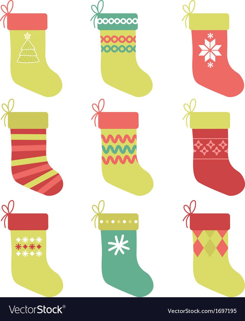 Christmas Stocking Royalty Free Vector Image - VectorStock
