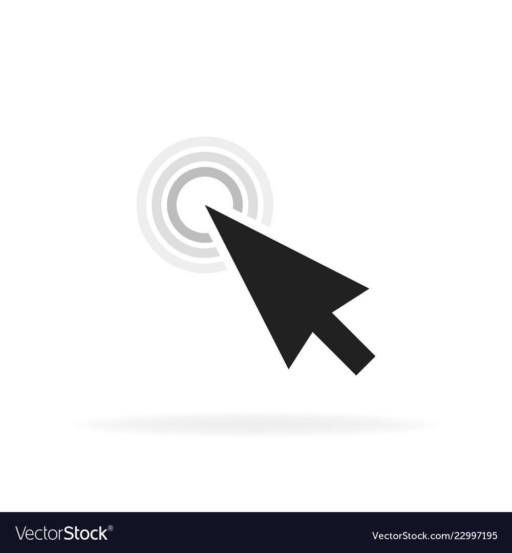 Computer mouse click cursor gray arrow icon