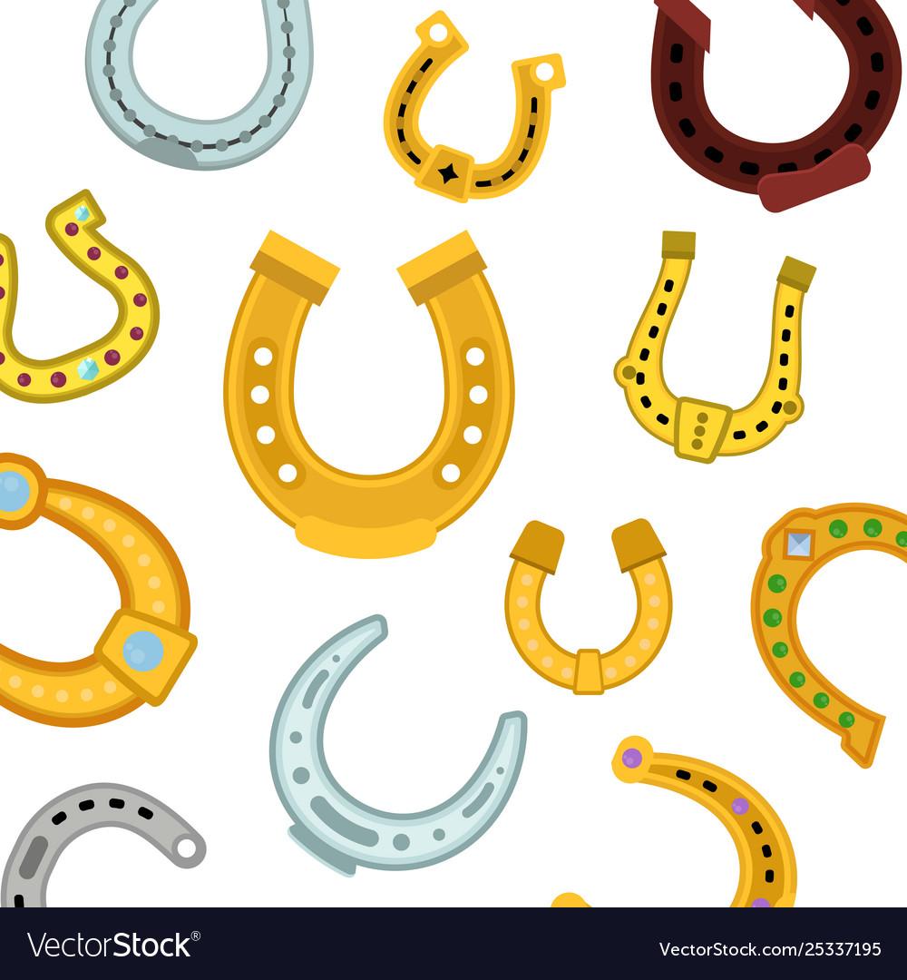 Horseshoes seamless pattern