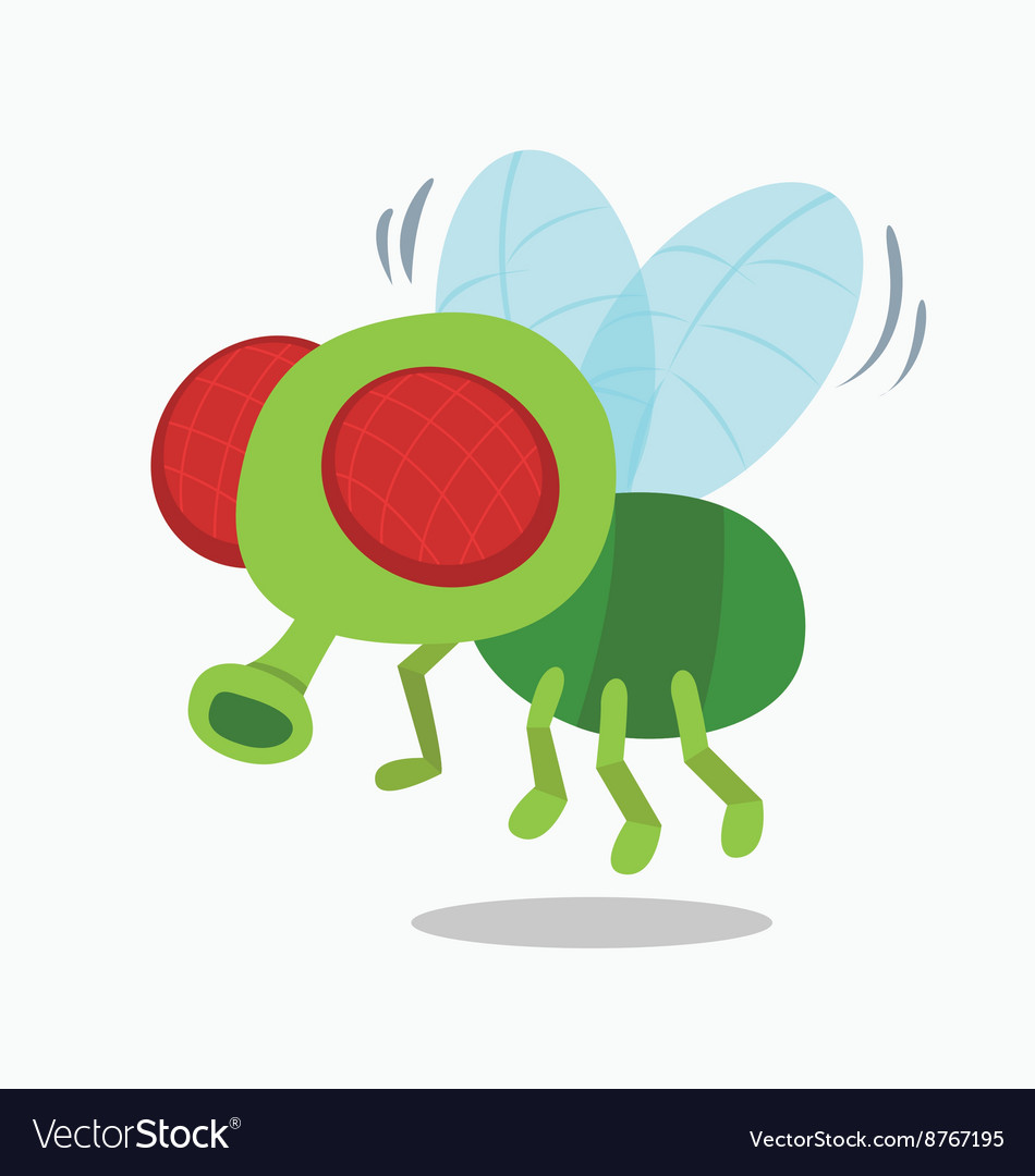 Housefly insect fly cartoon vector image