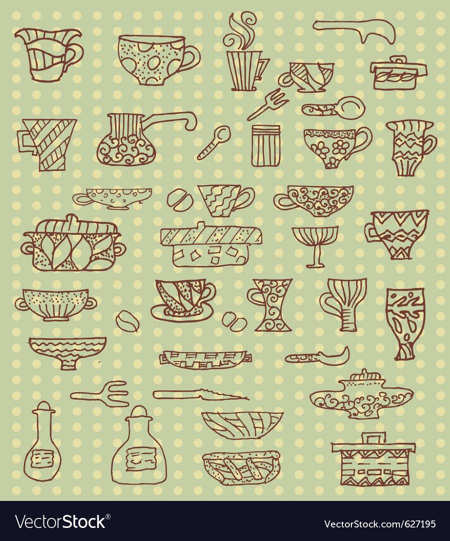 kitchen utensils background vector kitchen utensils background vector image royalty free vector image
