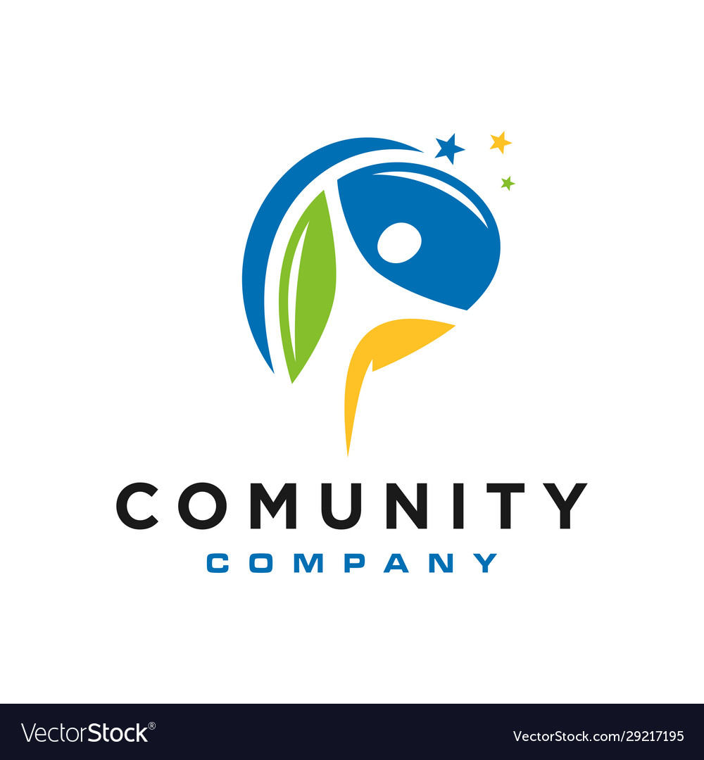 Modern human community logo
