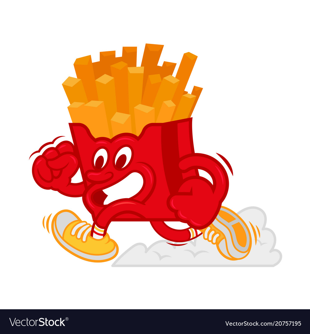 Running french fries